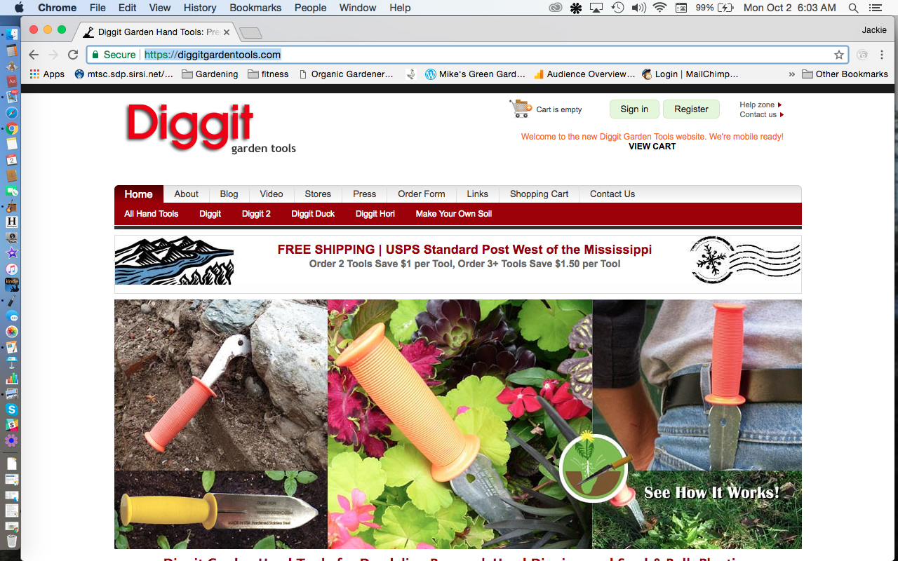 Diggit garden tools website