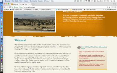 Location Hopi Tribe NE Arizona