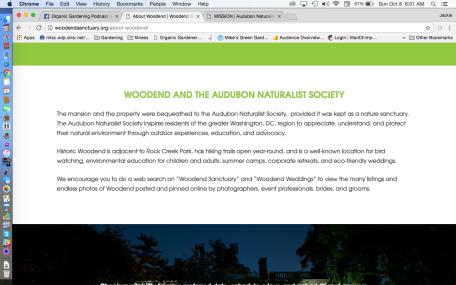 Woodend Audubon Naturalist Society