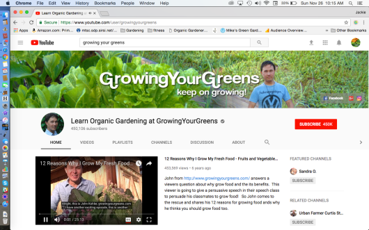 Growning Your Greens John Kohler
