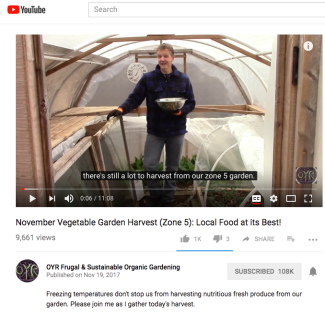 OYR Frugal & Sustainable Organic Gardening