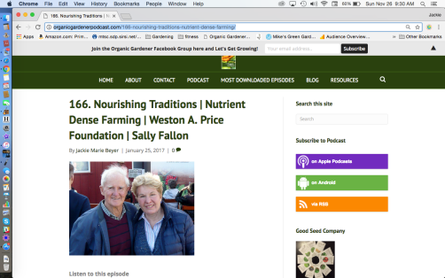 Sally Fallon on the OGP website episode 166