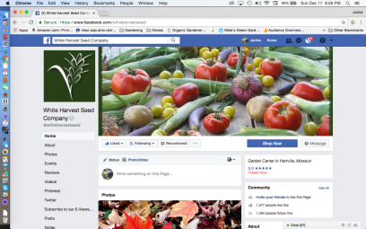 White Harvest Seed Company Heirloom Seed Facebook Page