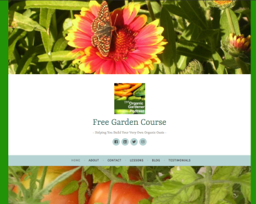 Free Organic Garden Course Website