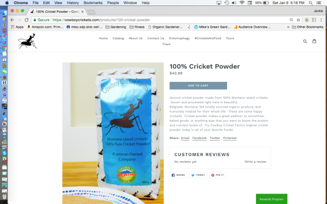Cowboy Crickets Farm Cricket Powder