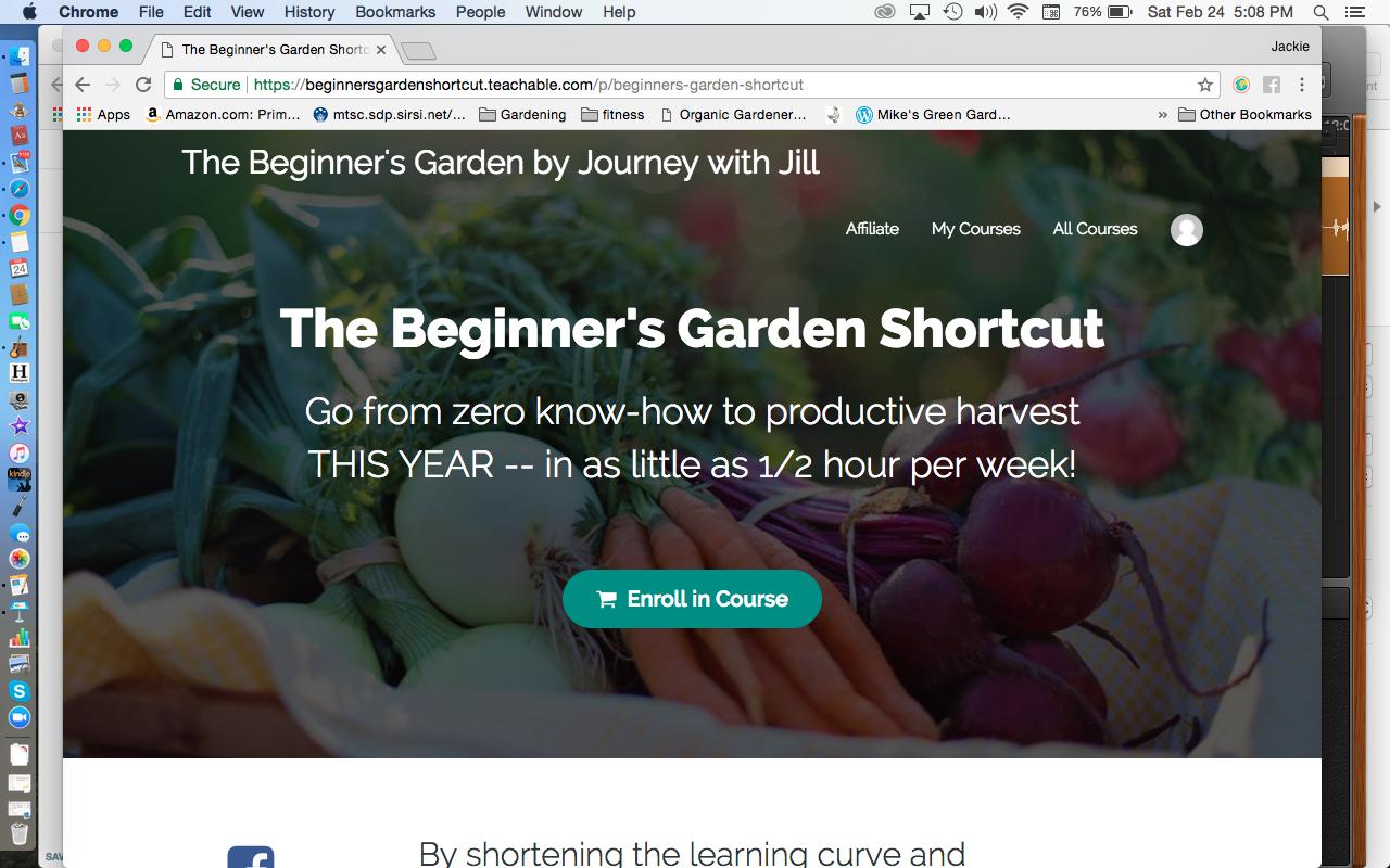 The Beginner's Garden Shortcut Website
