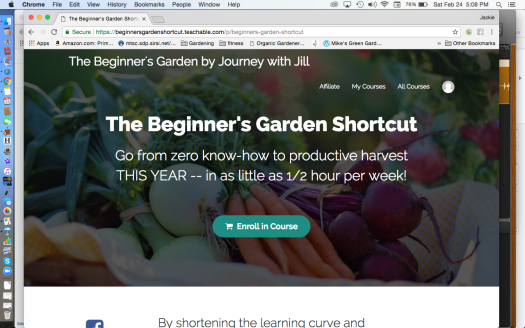The Beginner's Garden Shortcut Website