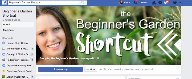 Beginner's Garden Shortcut Facebook Group