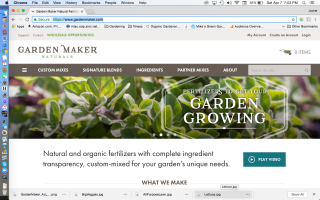 Garden Maker Naturals Website