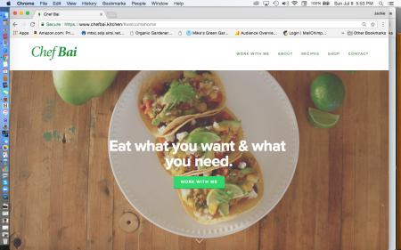 Chef Bai Website