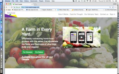 Seed Voyage Website